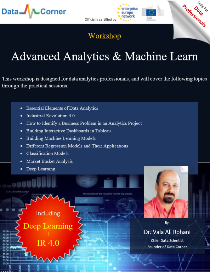 Our Workshop: Adv Analytics & ML
