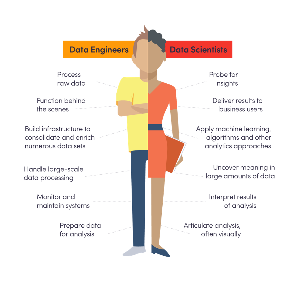 Data Engineers vs Data Scientists